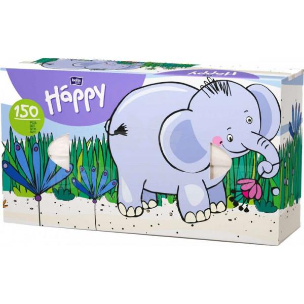 HAPPY Universālās salvetes (kastītē) 100 gb+50% Bella