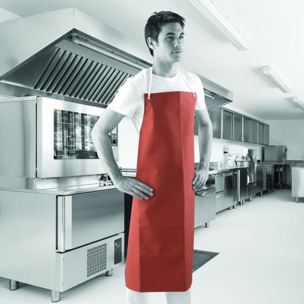 PVC priekšauts, 91x107cm, sarkans, 300myc, Shield