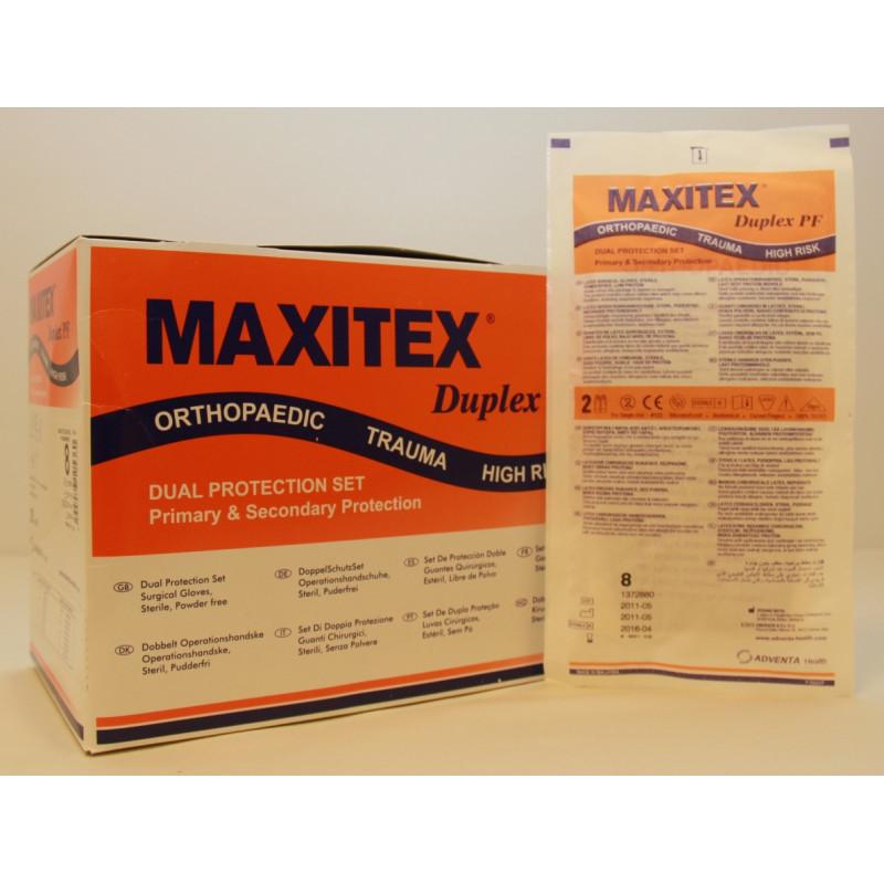Cimdi sterili dubulti, bez pūdera, Maxitex Duplex