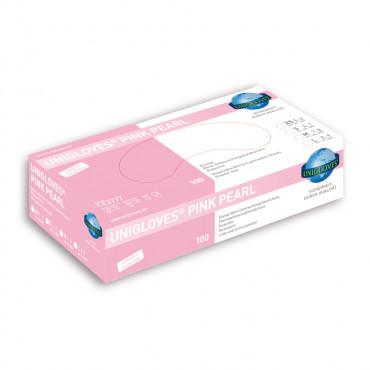 Cimdi nitrila,  bez pūdera, rozā krāsā PINK PEARL
