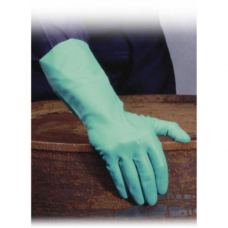 GI/F12 Cimdi īpaši izturīgi zaļi nitrila Shield